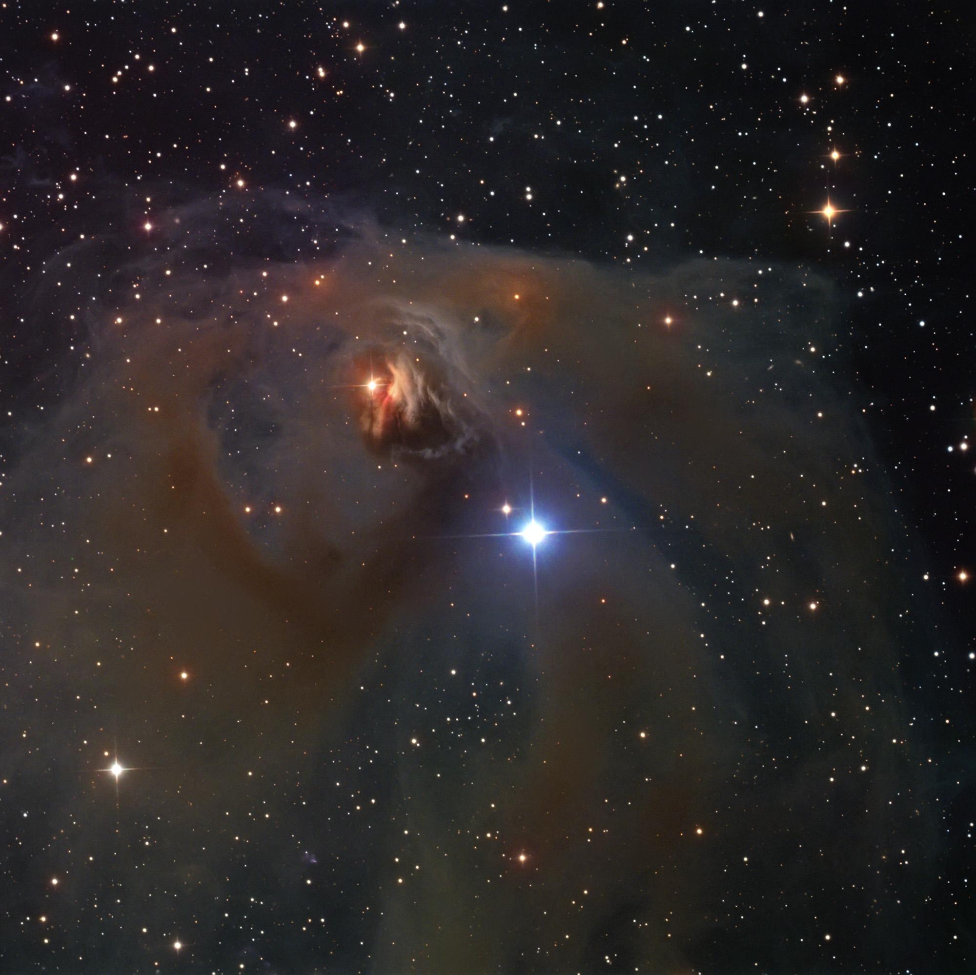 NGC 1555 (Hind´s Variable Nebula) in Taurus